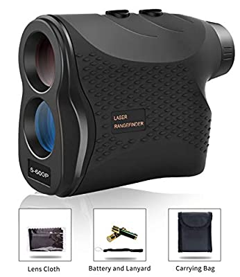 Affyrex Golf Laser Rangefinder, 650 Yard Range with Pulse Vibration, Distance and Speed Measurement, 6X Magnification and Naked Eye Observation (Black) from Affyrex