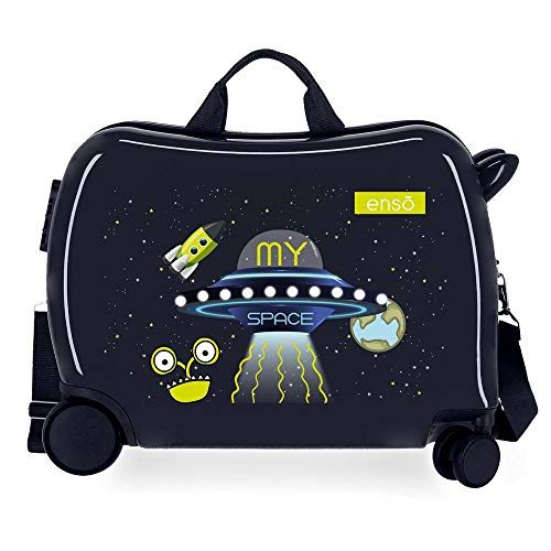 Enso My Space Children's Suitcase Blue 50 x 38 x 20 cm Rigid ABS Side Combination Closure 34L 3 kg 4 Hand Luggage