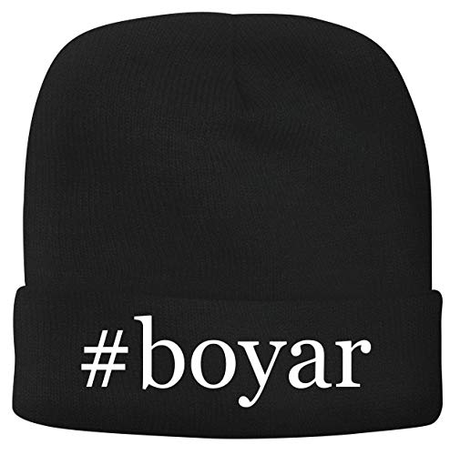 BH Cool Designs #boyar - Men's Hashtag Soft & Comfortable Beanie Hat Cap, Black, One Size