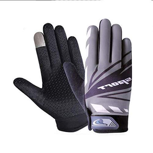 Touchscreen rubberen handschoenen, sport mountainbiken antislip touchscreen lente en zomer vrouwelijke fitness vissen training vingerhandschoenen,Gray