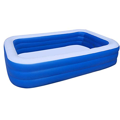 3DWallflexi 1.5m /1.8m/2.1m/2.6m/3.05m Piscina Inflable para niños Bañera para bebés Uso en el hogar Piscina para niños Piscina Cuadrada Niños Adultos-2.6m_