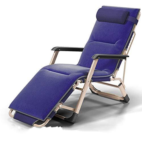 Vouwstoel Verstelbare klapstoel | Vouwbureau Vouwstoel | Eenvoudig opklapbaar strandbed | Enkele opklapbare stoel voor lunchpauze Campingstoel voor oudere kinderen 178x65x80cm A ++ (kleur: B) B