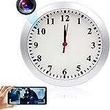 GEQWE Reloj De Pared con Cámara Espía Oculta, 1080P HD WiFi Reloj De Pared Cámara Cámara Inalámbrica para Niñera,...