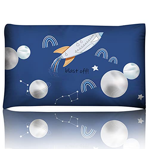 ICHOEEU Toddler Pillow for Kids, 13X18 Soft Organic Cotton Baby Pillows with Pillowcase for Sleeping Children Bedding Hypoallergenic Small Pillow, Perfect for Travel, Toddler Cot, Cribs, Preschool