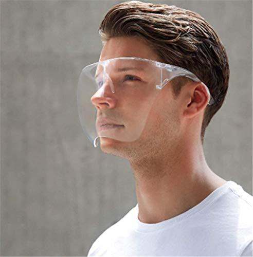 Protezione per il viso, design alla moda e confortevole, occhiali trasparenti per donne e uomini, anti-olio, saliva paraspruzzi (M)