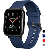 Mgaolo Fitness Tracker,Smart Watch with Blood Pressure Heart Rate Sleep Monitor for Men and Women, Touchscreen Sport Waterproof Activity Tracker with Pedometer for Fitbit Android and iPhone(Blue)
