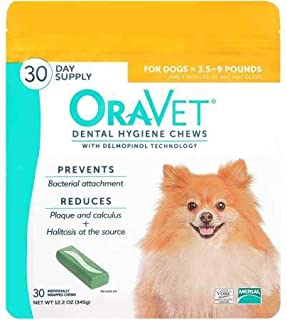 OraVet Dental Hygiene Chew for X-Small Dogs (up to 10 lbs), Dental Treats for Dogs, 30 Count