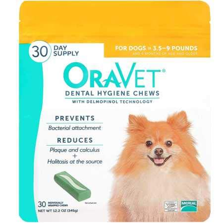 Merial Oravet Dental Hygiene Chew for XSmall Dogs up to 10 lbs Dental Treats for Dogs 30 Count
