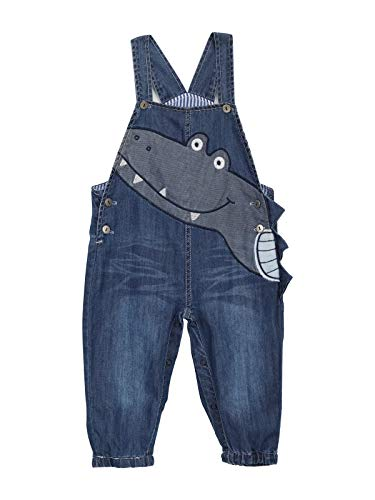Baby Jungen Mädchen Jeans Latzhose Strampler Overalls Weiche Baumwolle Denim Hose Dünn für Frühling Sommer Cartoon Krokodil Größe 80-86