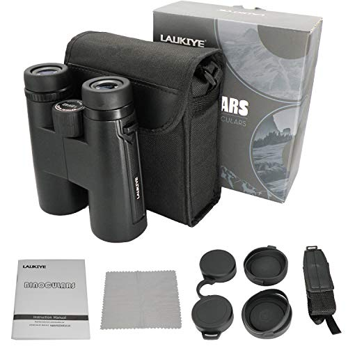 Binoculars with Clear Weak Light Vision, 12x42 Powerful Compact Professional HD Binocular with BAK4 FMC Lens for Adults Kids Bird Watching Hunting Travel Outdoor Camping