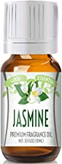 Premium Grade Jasmine Fragrance Oil - Good Essential only provides the highest quality fragrance oil. Our Jasmine scented oil is absolutely amazing! We know you'll love it! Bottled In A 10ml Amber Glass Bottle With Eurodropper - Our Jasmine oil is bo...
