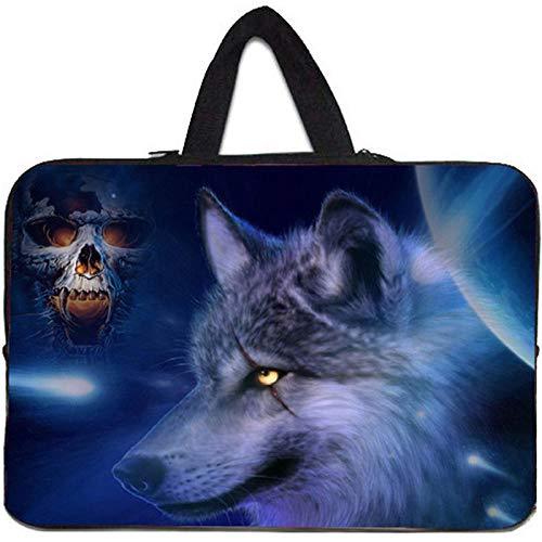 Yinghao Viviration Carry Sleeve Cover für HP MacBook Air 11 / Google Chromebook-Tasche 11 6 10 1 15 6 15 13 12 10 14 17 10 1 Zoll Laptop-Tasche@17 Zoll_Wolf