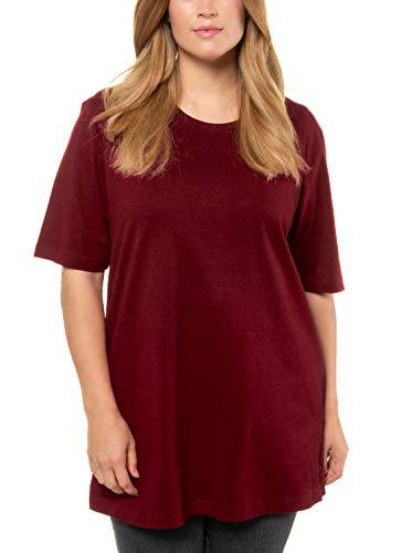Ulla Popken Rundhals, Camiseta para Mujer, Rojo (Rot 51), 56