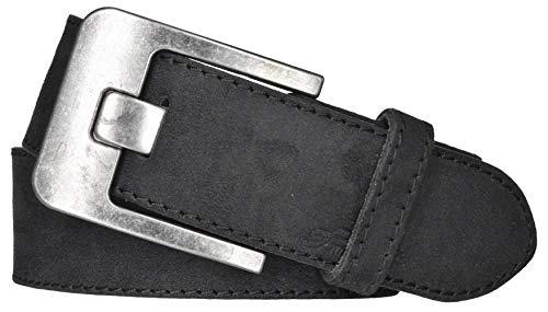 TOM TAILOR Damen Gürtel Damengürtel Leder Gürtel Ledergürtel 40 mm schwarz, Länge:95