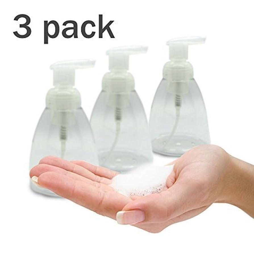 恥高度低いFoaming Soap Dispenser Set of 3 pack 300ml (10 oz) Empty Bottles Hand Soap Liquid Containers. Save Money! Less soap is used per hand washing session Perfect for Castile Liquid Soap [並行輸入品]