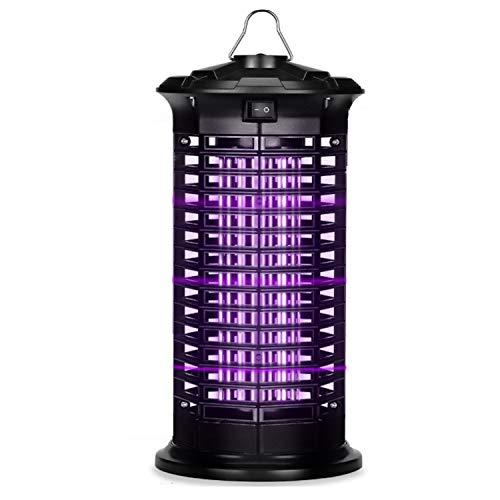 Dee Banna Insecticida eléctrico, trampa para insectos, lámpara para mosquitos con luz ultravioleta, sin productos químicos tóxicos, adecuada para interiores y jardines