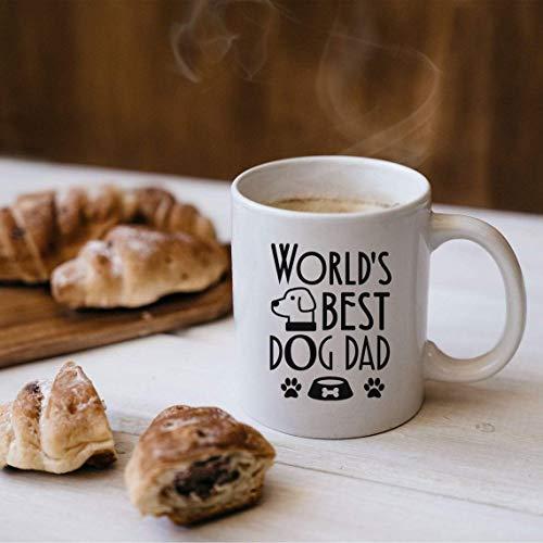 Tazza da caffè, miglior cane papà mai, tazza divertente, nuovo regalo del proprietario del cane, papà del cane, regalo per gli amanti dei cani, regalo del proprietario del cane, tazza amante degli ani