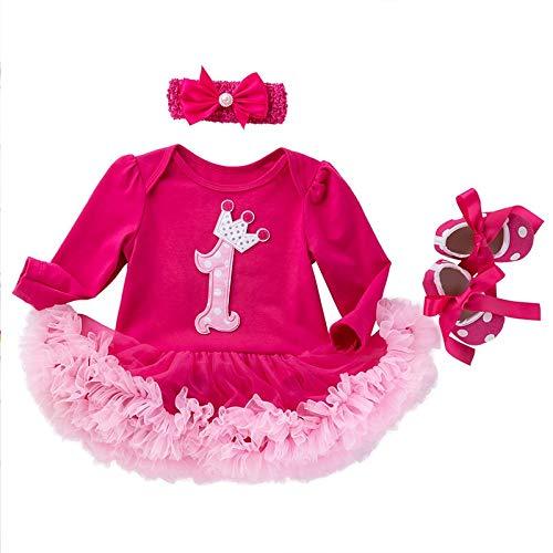JINSUO - Disfraz de niña recién nacida para bebé (3 unidades), diseño de Minnie