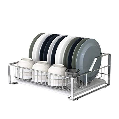 YLCJ afdruipmand van roestvrij staal, rond, hoge weerstand, 2-in-1 – (geschikt voor de meeste commerciële en particuliere spoelbaken) (kleur: zilverkleurig, maat: A)
