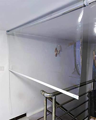 SSZY Estor Enrollable Persianas Enrollables Transparentes para Exteriores Patio Ventanas, con Accesorios y Cadena, Persianas Enrollables de PVC Impermeables, 70/90/110/125/135/150cm de Ancho