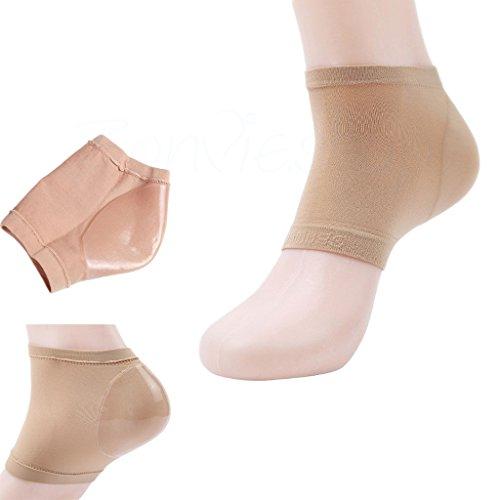 1 Paar Silikon Gel Fersenschutz Fersensocke Fersenbandage Fersenkissen Fußpflege Fersenpolster (S/M)