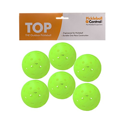 TOP Ball (The Outdoor Pickleball) - 6 Count - Orange - USAPA Approved for Tournament Play
