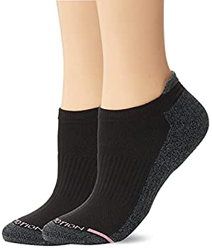 Dr Motion Women s 2PK Dr Motion Compression Low Cut Socks Sockshosiery black Solid ONE SIZE