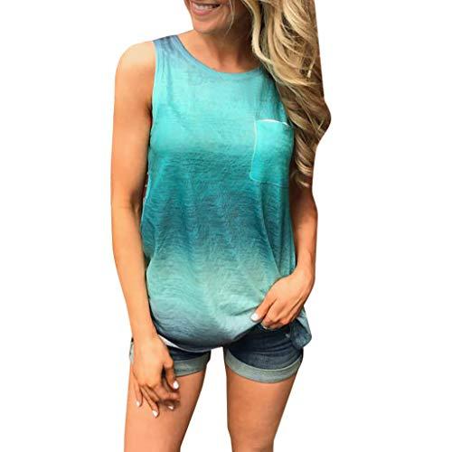 Luckycat Camiseta de Tirantes para Mujer, Mujeres Sexy de Hombros sin Mangas del Tanque Tops Chaleco Camiseta Blusa Crop Tops