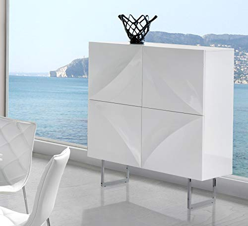 Kasalinea - Aparador alto blanco lacado 4 puertas Design Helga