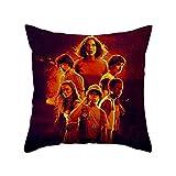 zhongjiany Stranger Things Throw Pillowcase Sofá Funda de Almohada Funda de cojín para la decoración de la Cama del Coche (17.7in *...