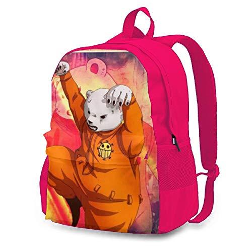 One Piece Bepo - Zaino da viaggio per adulti, colorato, leggero, con stampa, durevole, grande capacità