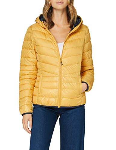 TOM TAILOR Denim Damen Polster Kaputze Jacke, 10410-Indian Spice Yellow, M