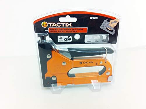 TACTIX Pistola de grapas de alta resistencia con 600 grapas