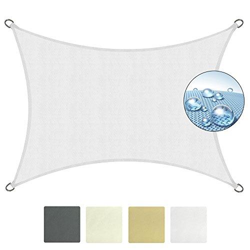 Sol Royal Tenda a Vela Rettangolare SolVision - 3x4m Bianco - Parasole idrofugo per Esterni Contro Pioggia e Raggi UV
