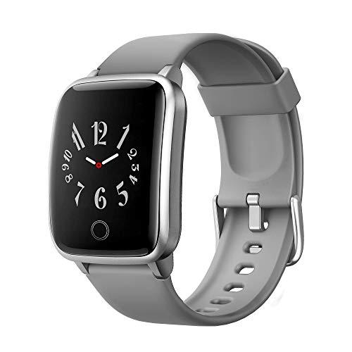 GRDE Smartwatch, Fitness Tracker Armbanduhr 1,3 Zoll Sportuhr IP68 Wasserdicht Smart Watch Bluetooth mit Pulsmesser Schlafmonitor Schrittzähler Aktivitätstracker Kalorienzähler für Damen Herren