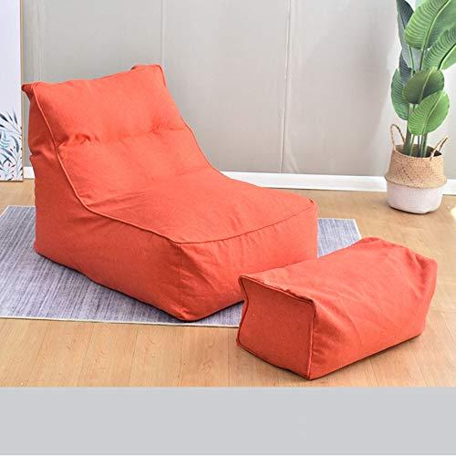 WyaengHai zitzak en opslag voor kinderen en peuters, voor jongeren en volwassenen, vijf kleuren, beton stoel met massief houten poten Eén maat oranje