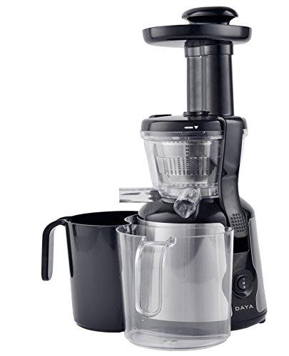 DAYA home appliances DCF-1540 Estrattore di succo a freddo, 200 W, 45 G/M, Argento, Nero