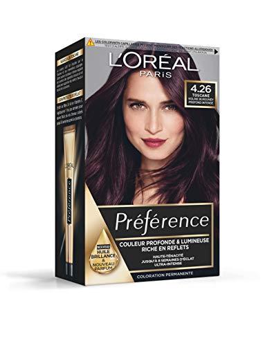 L'Oréal Paris Préférence Coloration Permanente Cheveux, Nuance : Toscane (4.26),...