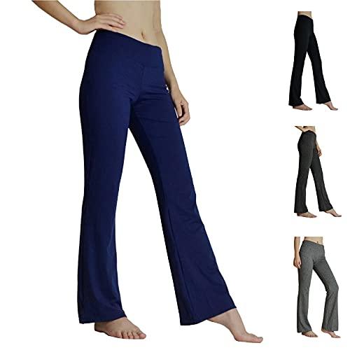 HeTaiDa Damen Jogginghose, schnell trocknende Sporthose mit versteckten Taschen, mittlhohe Taille stilvolle freizeitliche Yogahose für Fitness, Outdoor-Sport und als Alltagskleidung (Dark Blue, XXL)