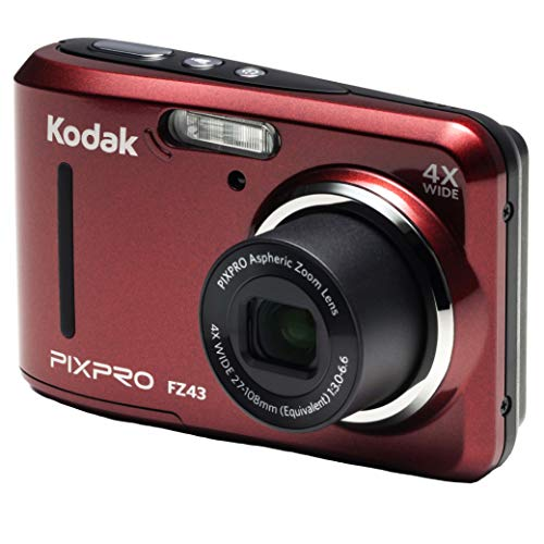 "Kodak PIXPRO Friendly Zoom FZ43-RD 16MP Digital Camera with 4X Optical Zoom and 2.7"" LCD Screen (Red)"
