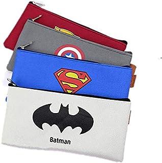 4pcs/set Superhero Batman Pencil Case Anime Big Capacity Oxford Cloth Pencil Bag Box Stationery for Kids Boys School Suppl...