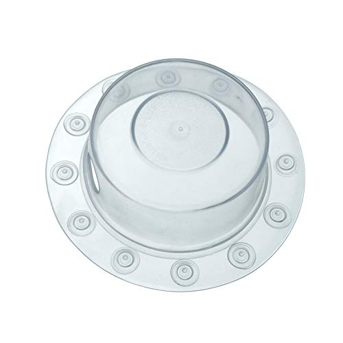 SlipX Solutions Bottomless Bath Overflow Drain Cover for Tubs, Adds Inches of Water to Your Bathtub for a Warmer, Deeper Bath (Clear, 4 inch Diameter)