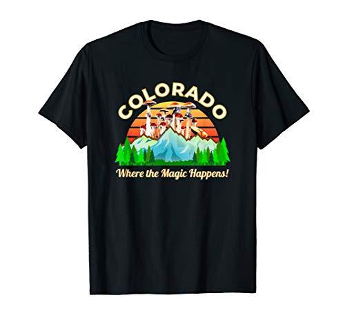 Colorado Zauberpilze Psychoaktive Magische Pilze Retro T-Shirt