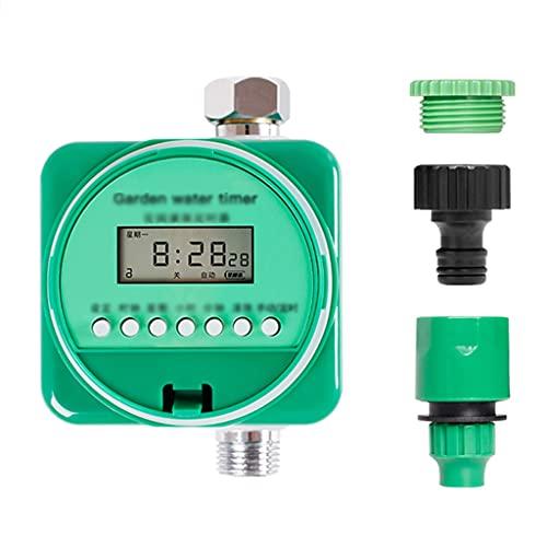QFFL Temporizador Automático de Agua, Controlador de Riego de Ahorro con Bloqueo para Niños, Modo Manual y Automático, Función de Sensor de Lluvia, Temporizador de Grifo de Manguera para Jardín