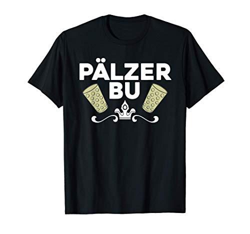 Herren Pälzer Bu Weinfest Geschenk Pfälzer Dialekt T-Shirt