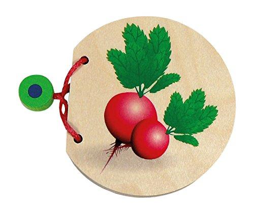 Hess 14297 Polypropylène Légumes Photo Livre bébé Jouet, 9 cm