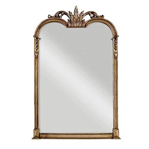 Antieke stijl gesneden frame volledige lengte spiegel hout opknoping muur spiegel met vintage rand en patroon (D43 X W27inch)