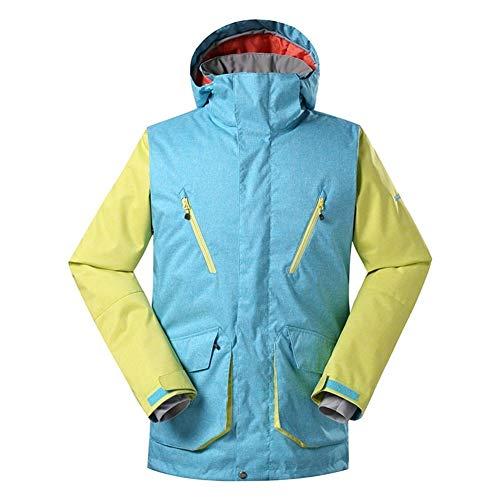 YABAISHI Herren Skijacke Snowboard-Jacke windundurchlässige wasserdichte warme Winter-Ski-Mantel Outdoor Sports Ski Snowboard Wear (Color : 1, Size : XL)