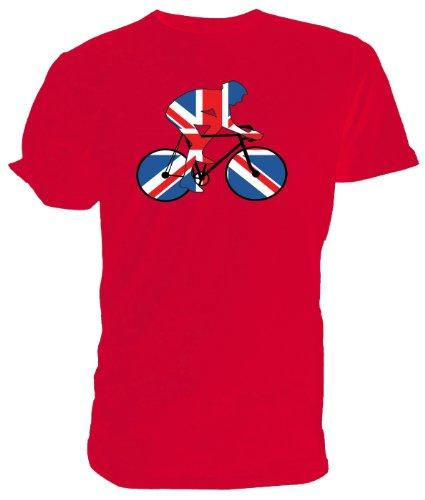 mächtig der welt Union Jack Radtrikot, Rot, Best of British Sport-Größe: L.