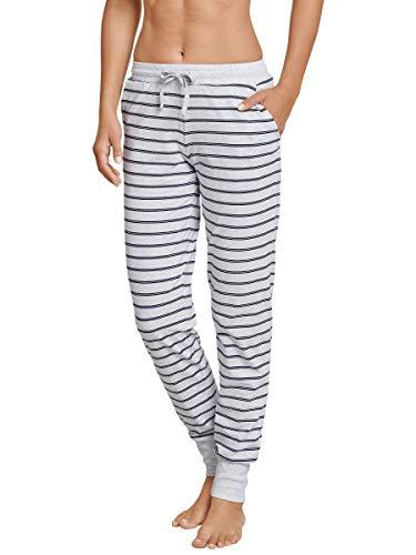 Schiesser Damen Mix & Relax Jerseyhose Lang Bas De Pyjama, Grau (Grau-Mel. 202), D36